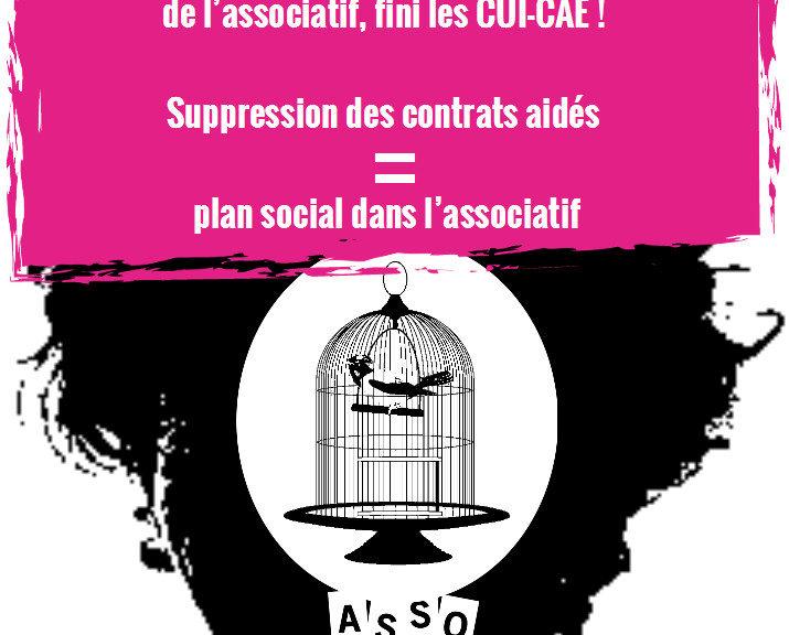 Réunion publique le Jeudi 14 à 19h à Paris : Fin des contrats aidés